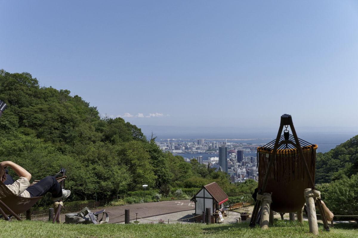 神戸布引ハーブ園からの眺め ハンモック