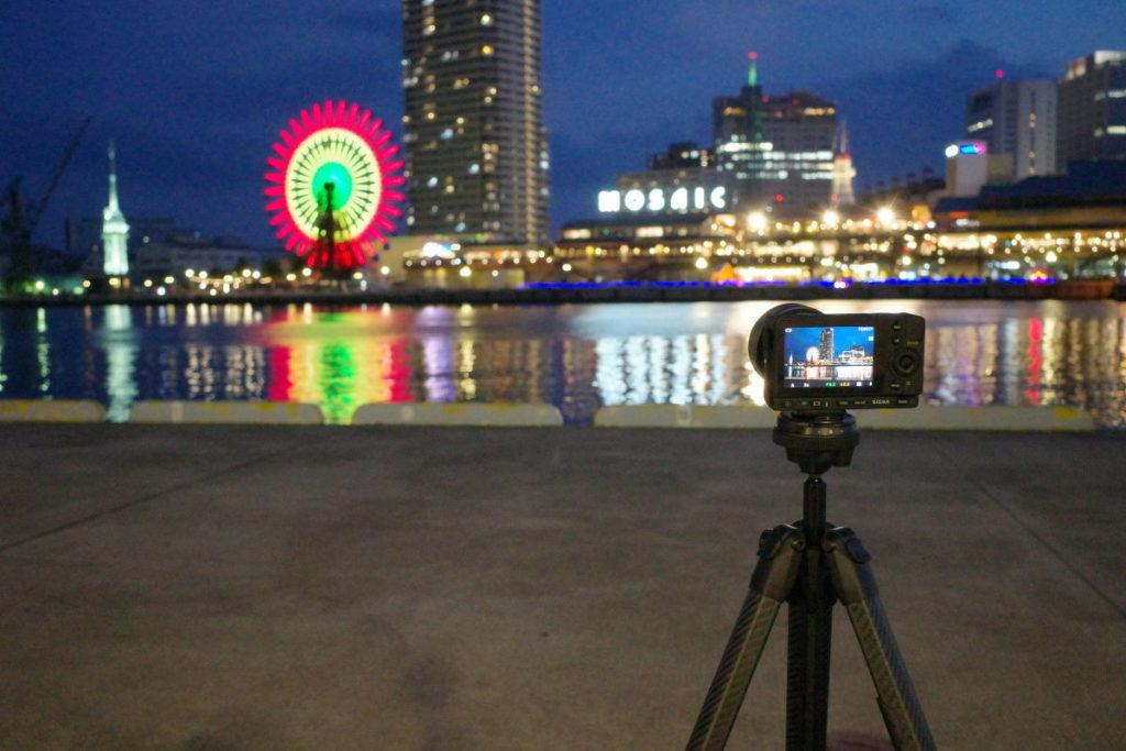 SIGMA fpとPeak Designのトラベル三脚で夜景撮影