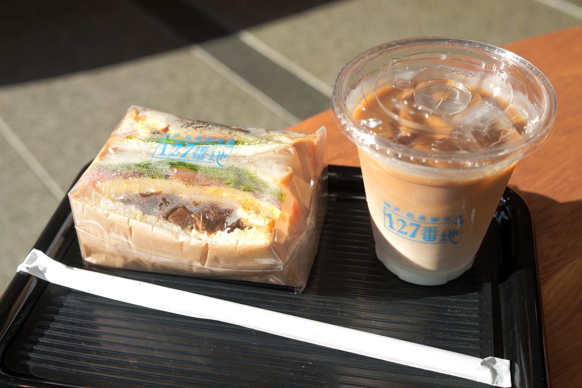 萩原珈琲127番地の「神戸下町サンドイッチ」