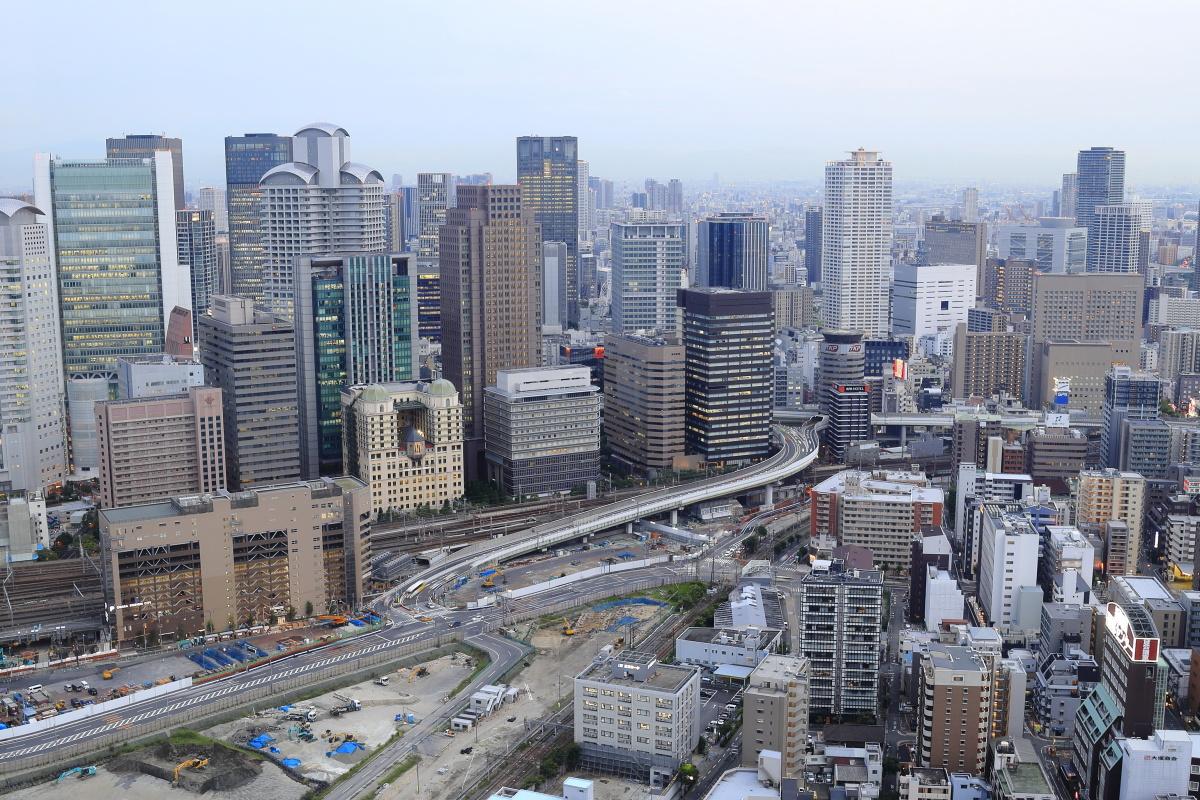 梅田スカイビル 空中庭園展望台の景色