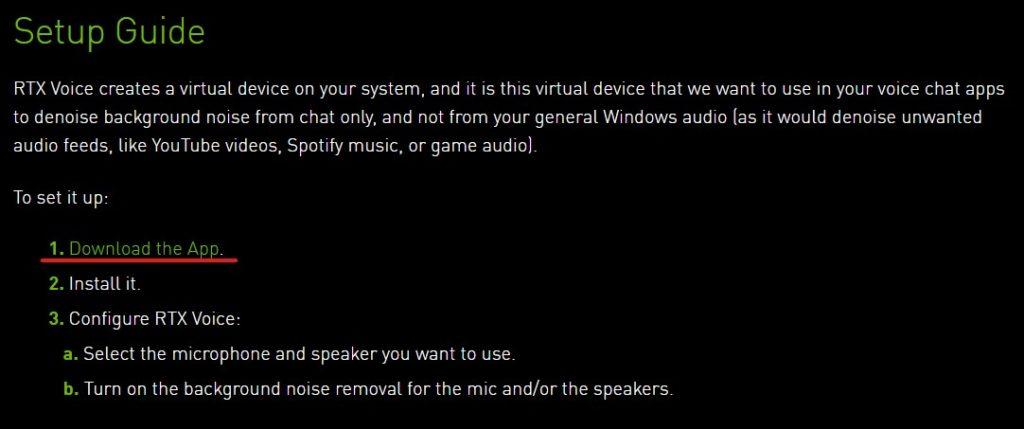 NVIDIA RTX Voiceのインストール