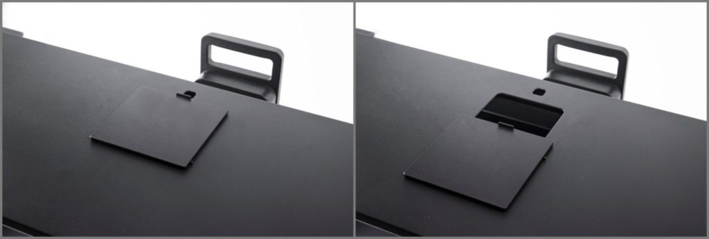 キャリブレーター用の穴 BenQ SW321C 4Kカラーマネジメントモニター 32インチ