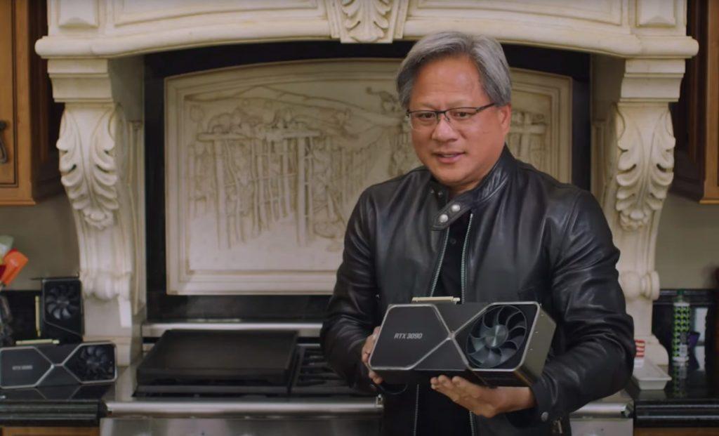 NVIDIA RTX 3090を抱えるCEO