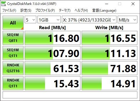 NASの速度 Synology 1GbE HDD RAID5の場合
