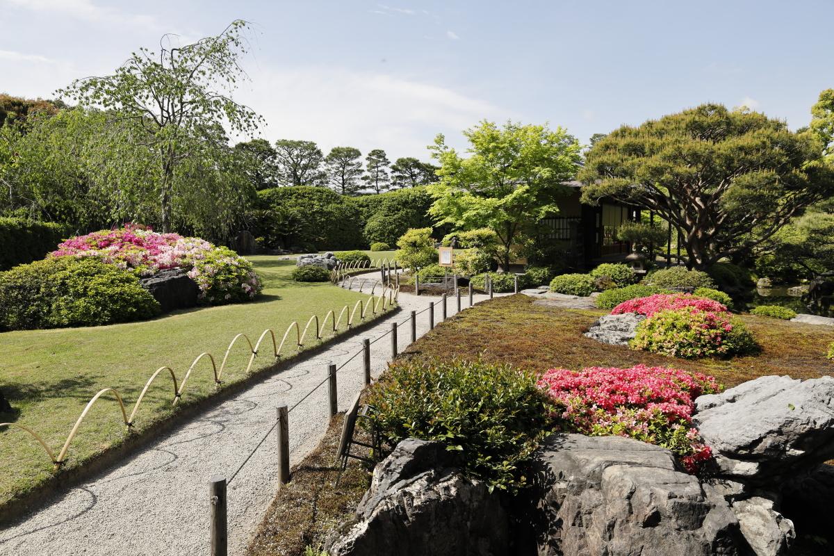 春の京都・城南宮 神宛の日本庭園