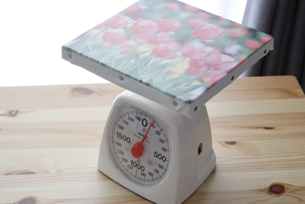 ウォールデコ キャンバス スクエアミニサイズ 重量