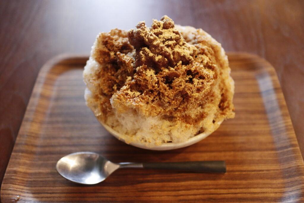 カフェヨディ Cafe Yuddy かき氷 黒蜜きなこ