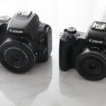 キヤノンの人気のパンケーキレンズふたつ EF-S24mm F2.8 STMとEF-M22mm F2 STM 一眼レフカメラ用とミラーレス一眼カメラ用