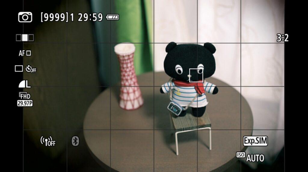 「クリエイティブフィルター」モードの撮影画面