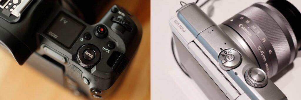 キヤノンEOS RとEOS M200の撮影モードボタン・ダイヤル