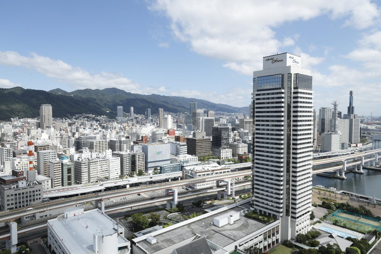神戸ポートタワーの展望フロアからの眺め ホテルオークラ