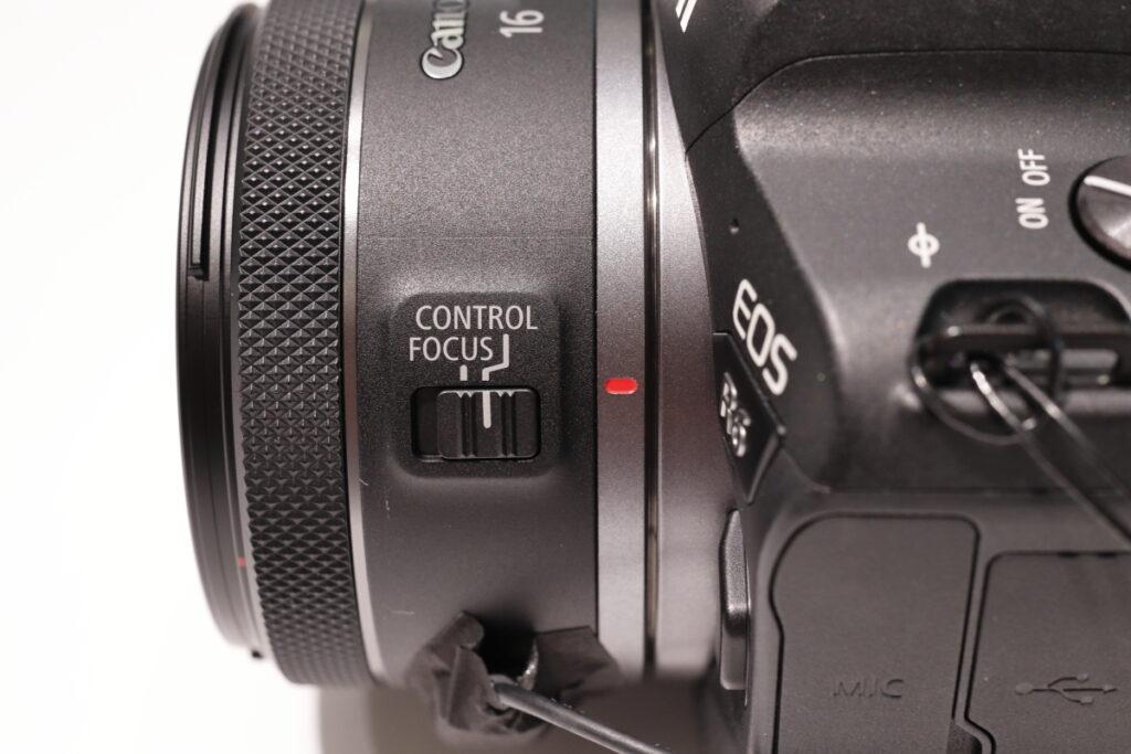 コントロール・フォーカス切り替えスイッチ RF16mm F2.8 STM キヤノン RFマウント用広角レンズ 単焦点